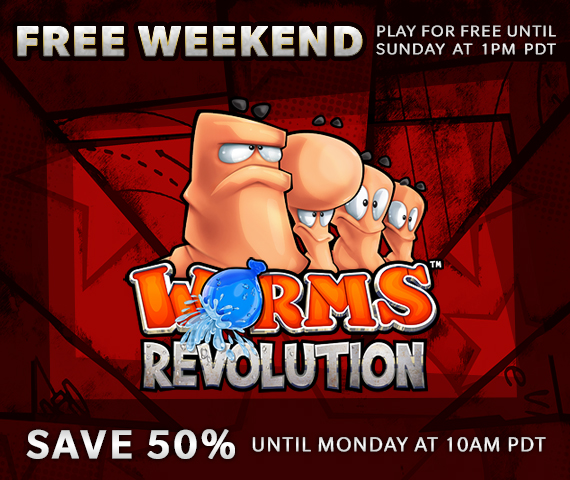 Worms Revolution Free to Play Weekend on Steam!