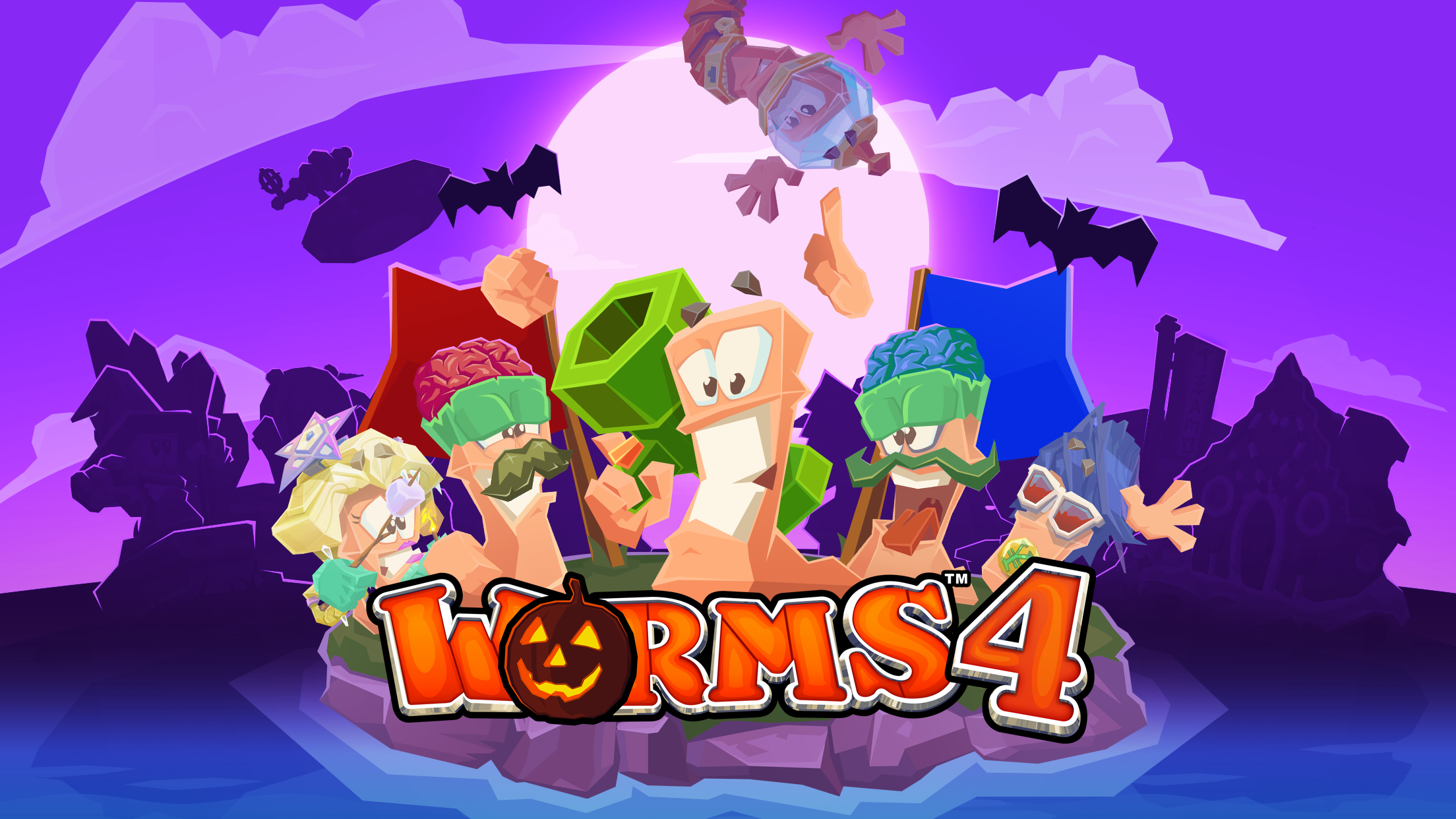 Worms 4- Halloween Update!!!!