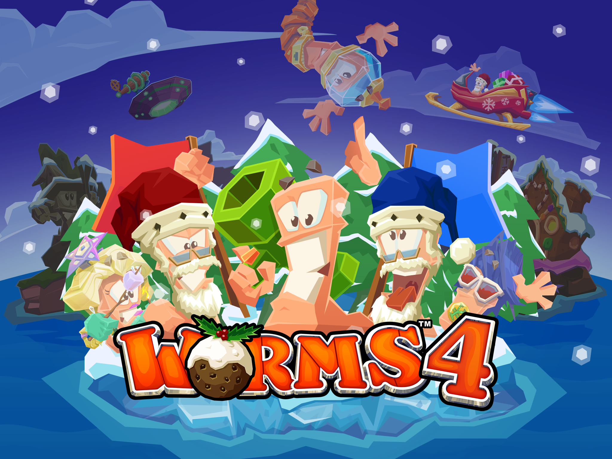 Worms 4 gets into the festive spirit with new content and 50% discount!