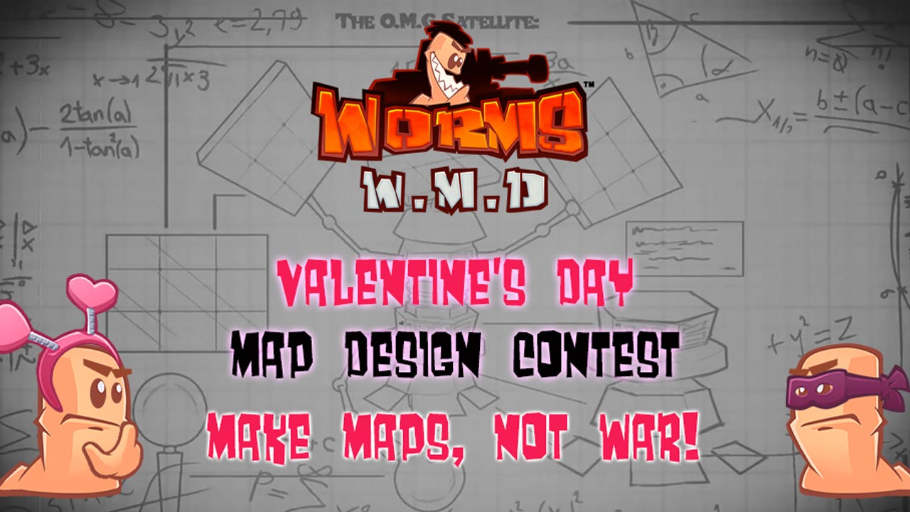 Worms W.M.D Valentine's Day Map Competition!