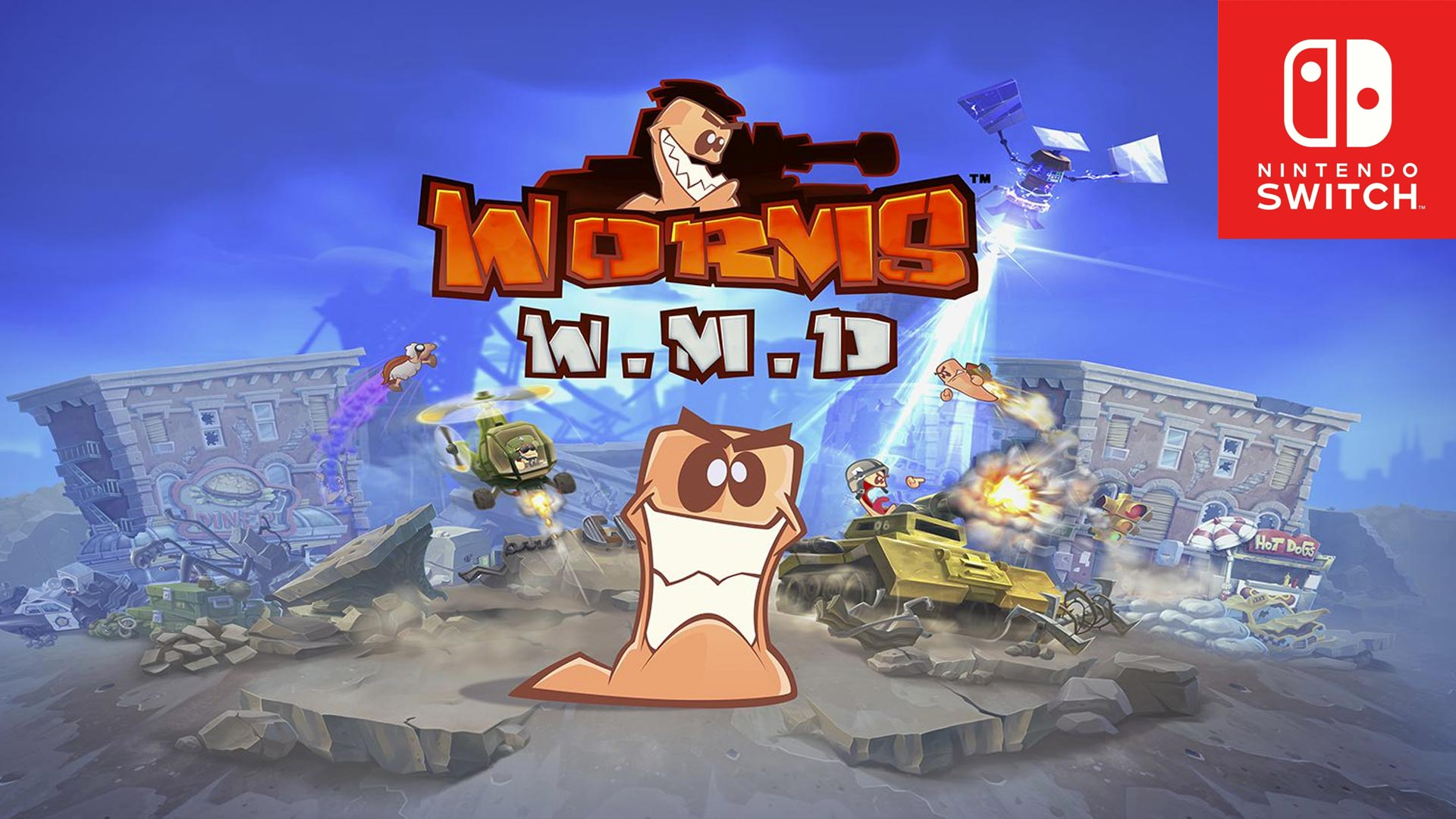 Worms W.M.D is available now on Nintendo Switch!