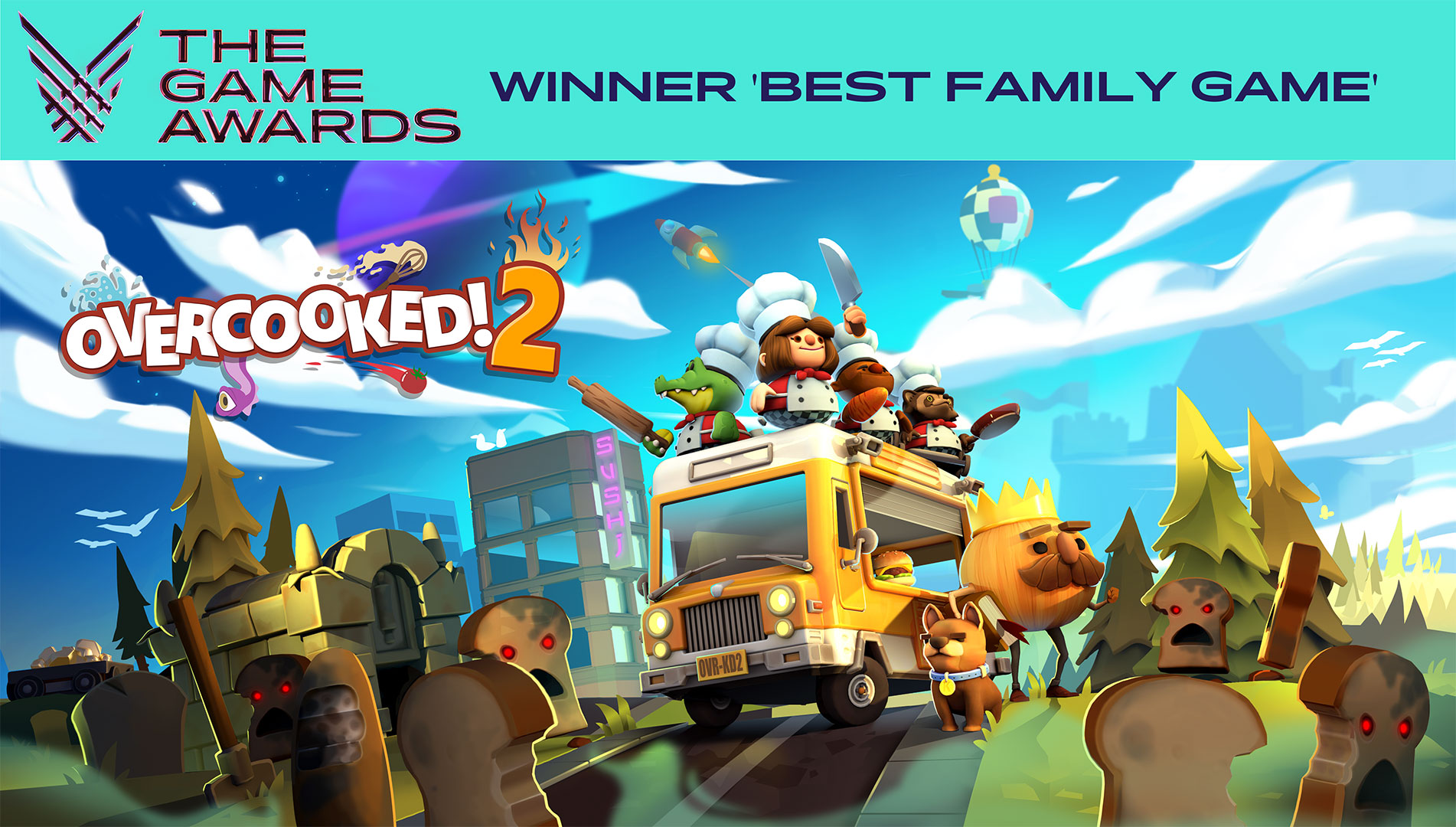 Overcooked! 2 Wins 'Best Family Game' at The Game Awards