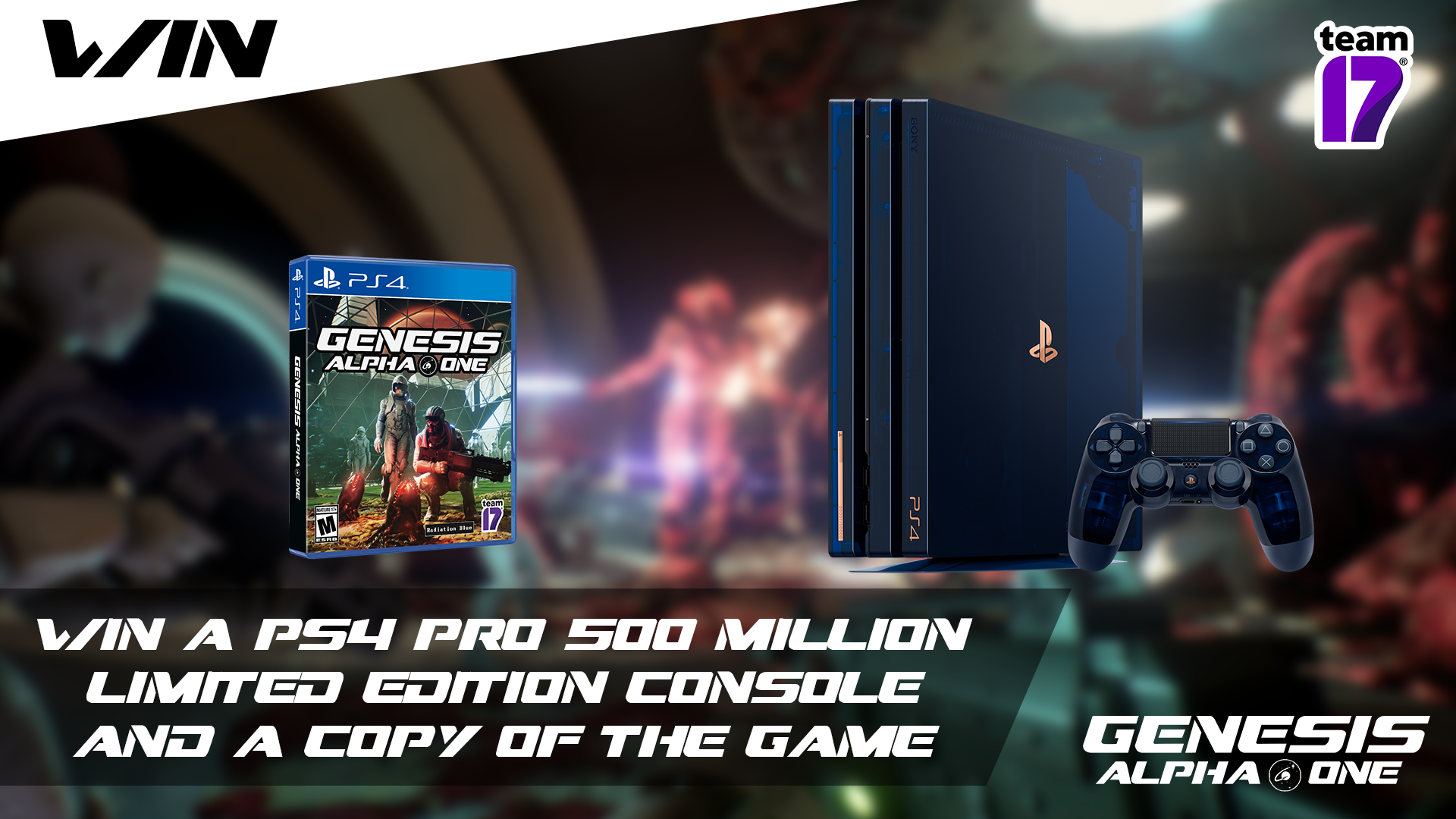 WIN a PS4 Pro 500 Million Limited Edition console and a copy of Genesis Alpha One!