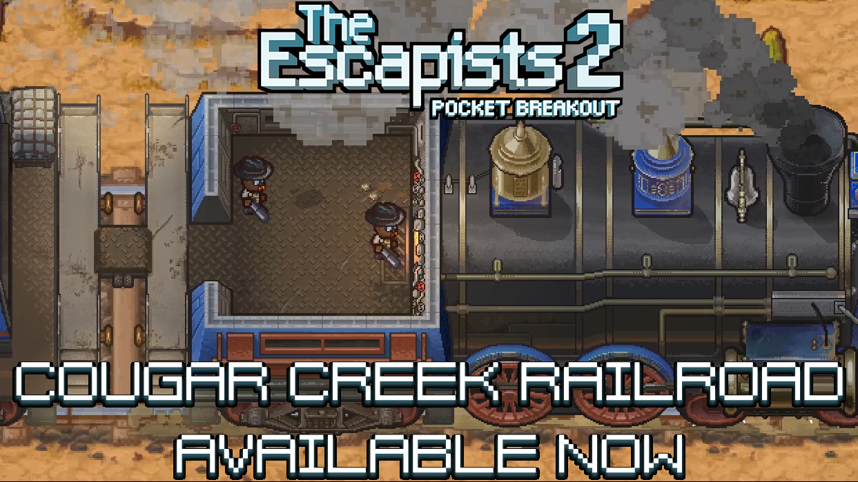 The Escapists 2: Pocket Breakout Gets FREE Cougar Creek Railroad Update