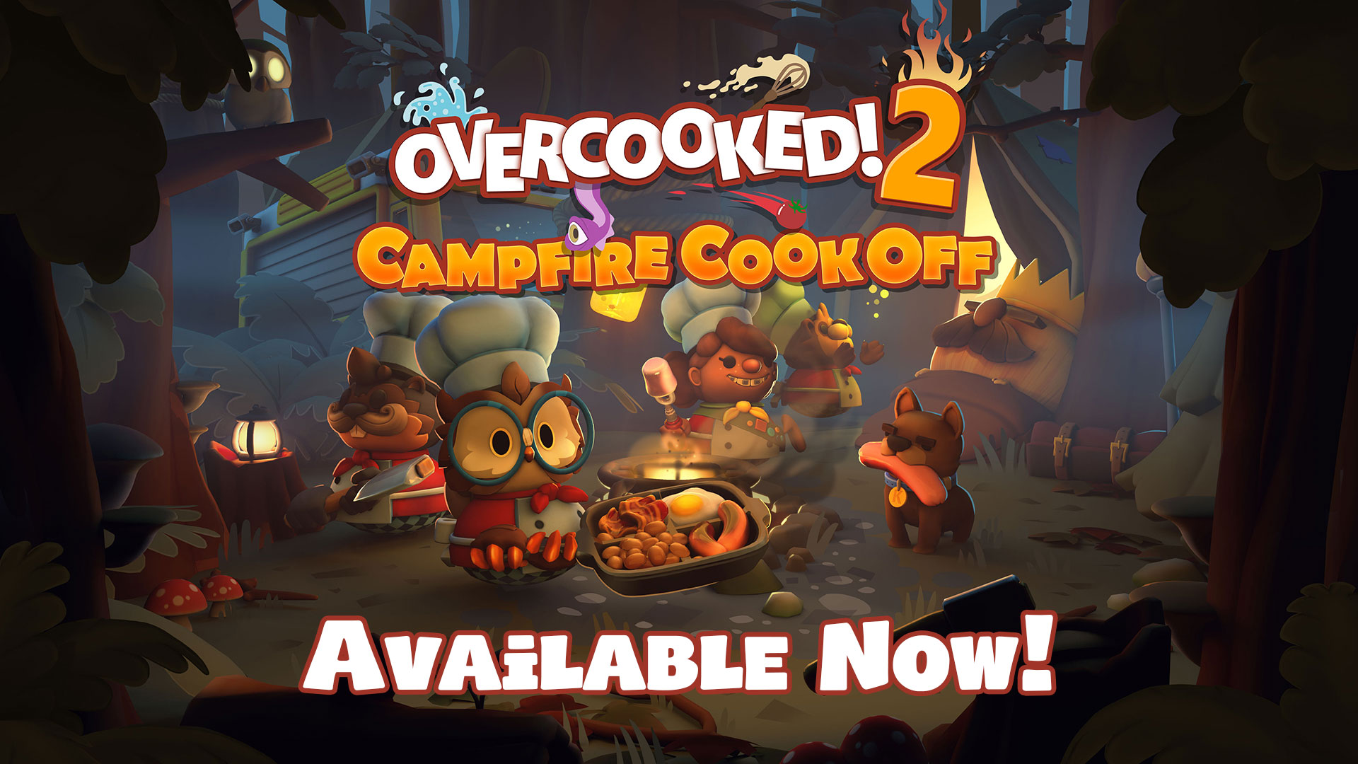 Overcooked! 2 – Campfire Cook Off DLC & Season Pass Available Now!
