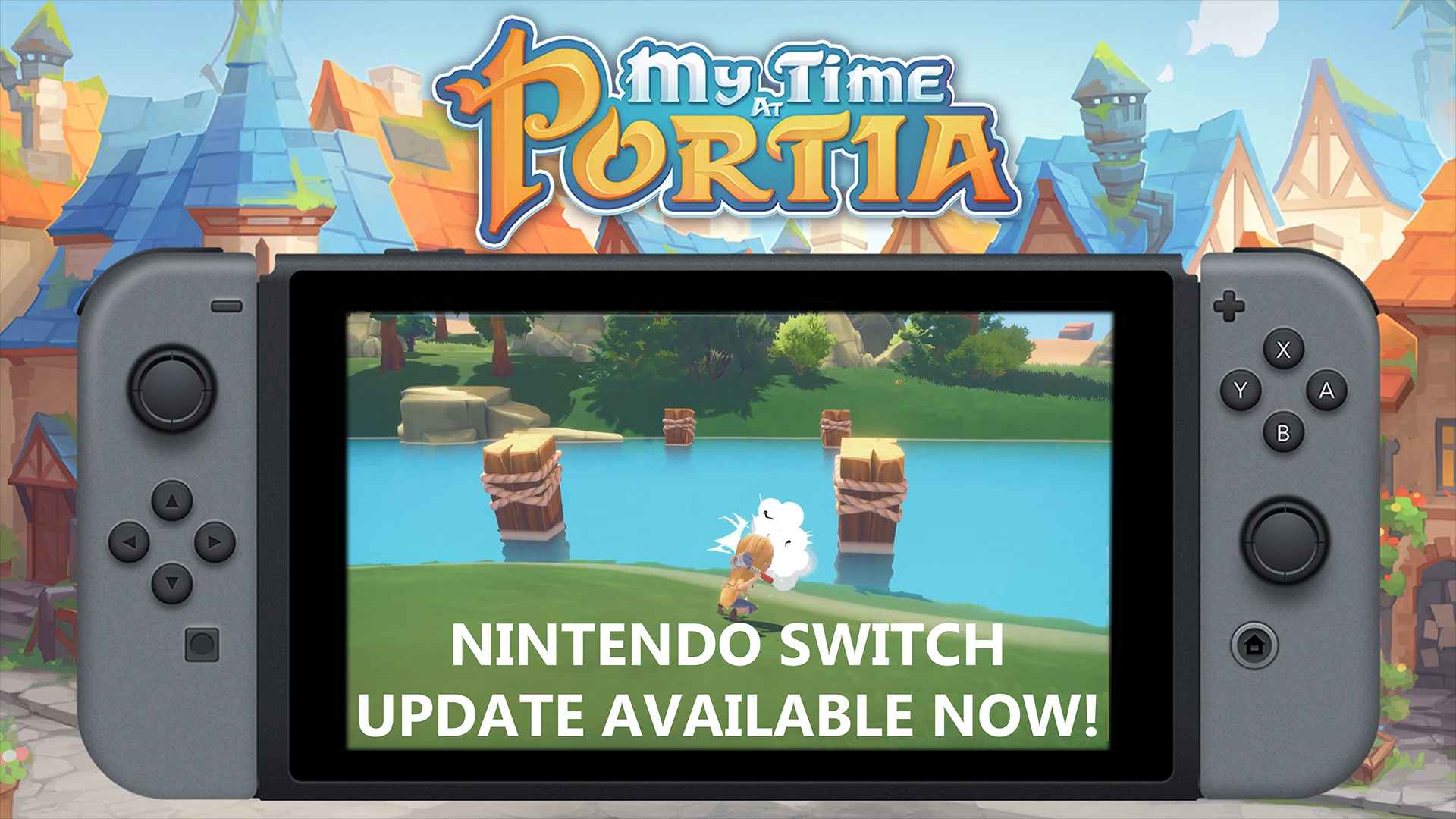 My Time At Portia - Nintendo Switch Update! - Team17 Group PLC