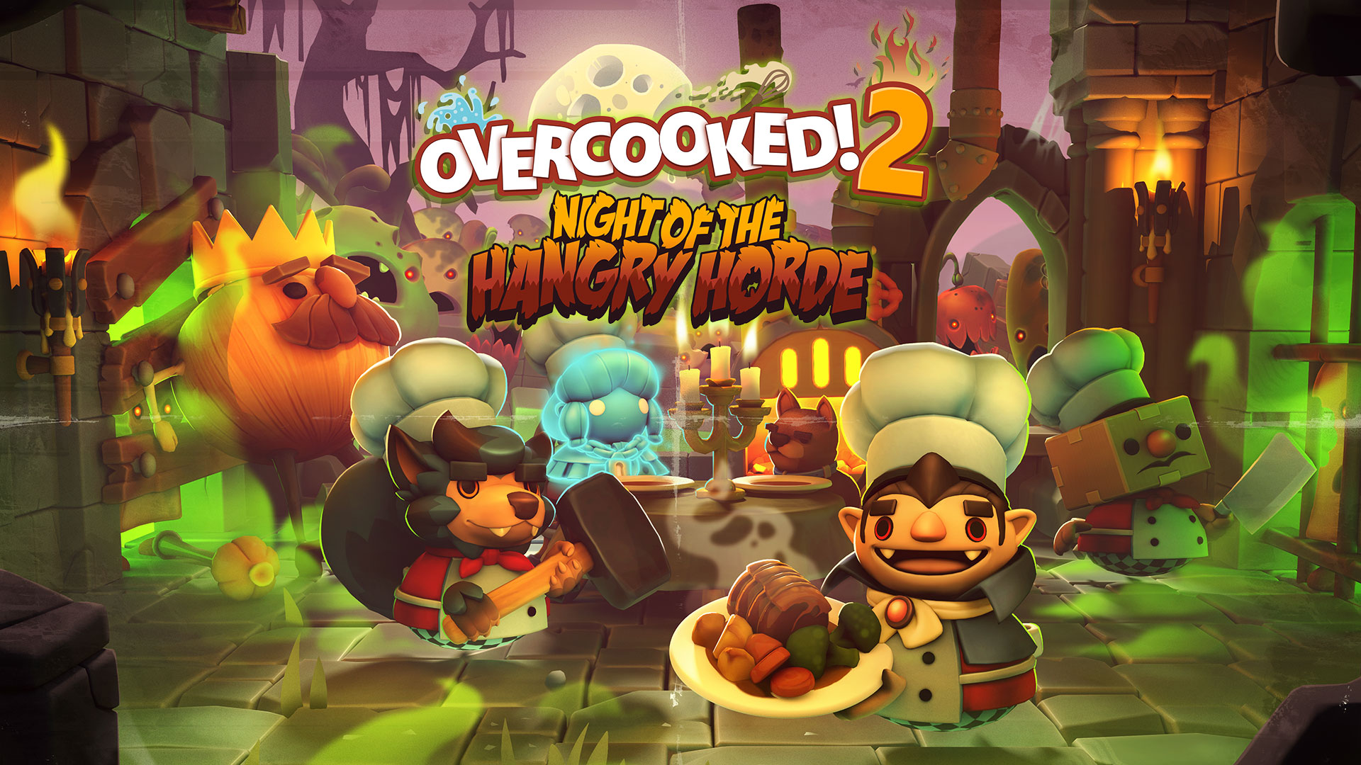Overcooked! 2 – Introducing 'Night Of The Hangry Horde'!