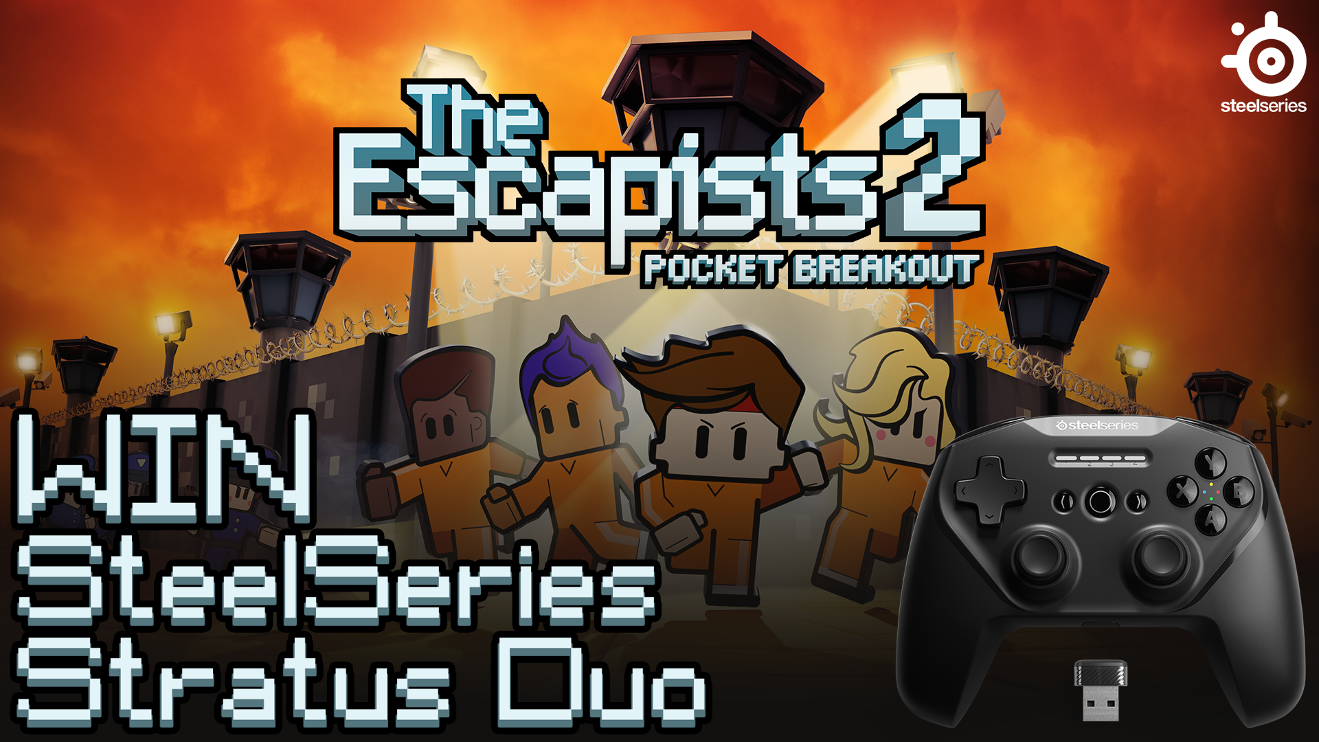 Win a SteelSeries Stratus Duo & The Escapists 2: Pocket Breakout!