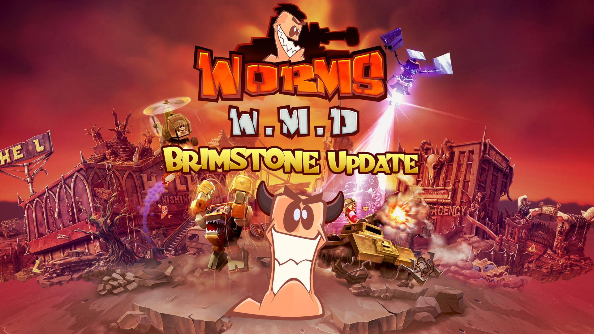 Worms W.M.D receives FREE Brimstone update!