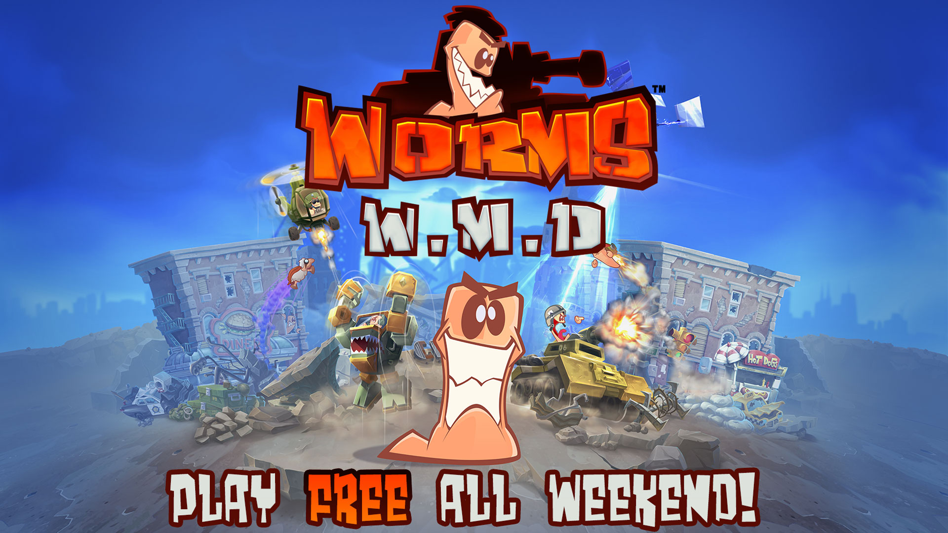 Play Worms W.M.D for FREE this weekend!