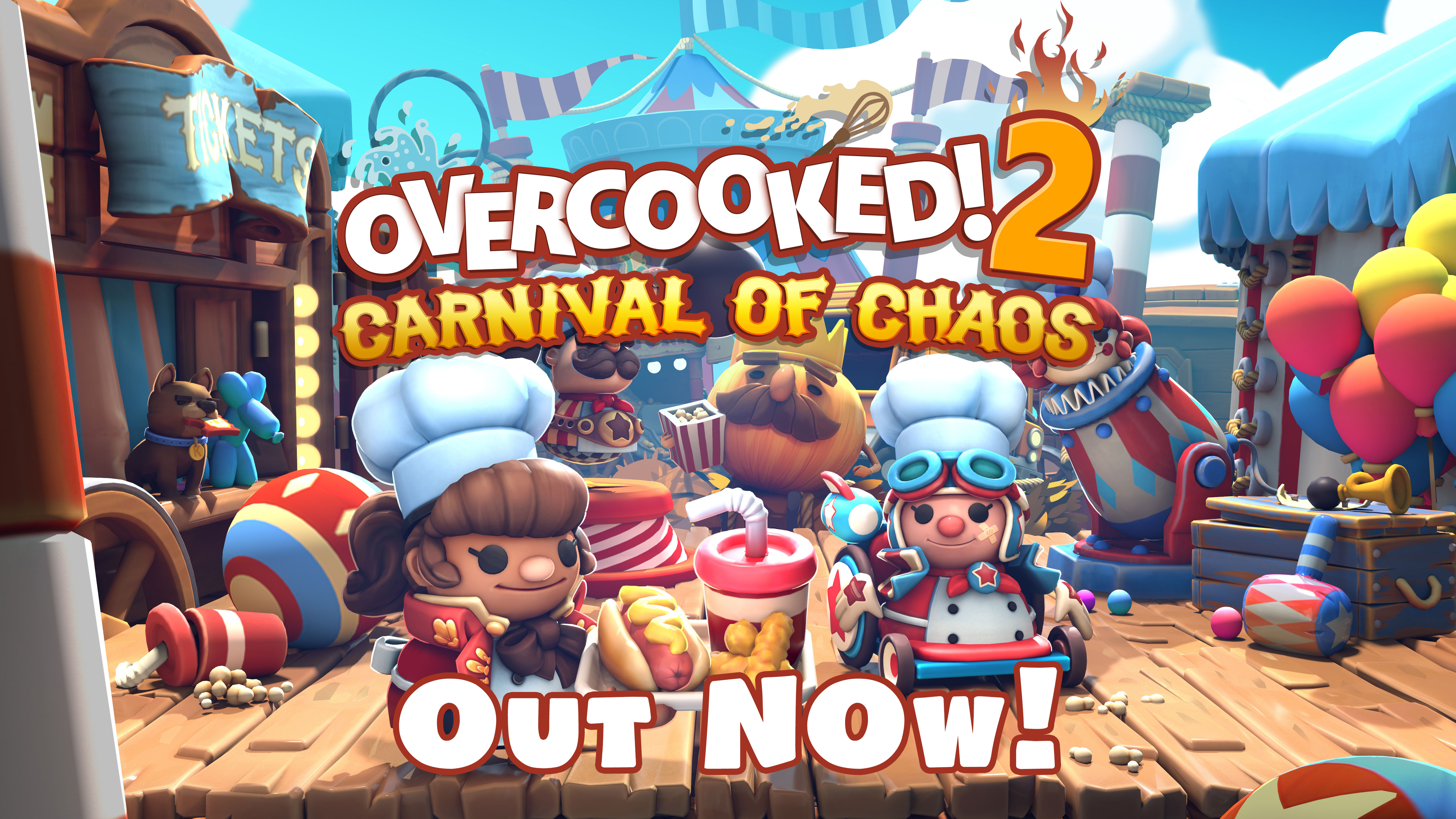 Overcooked! 2 Carnival of Chaos DLC – Out Now!