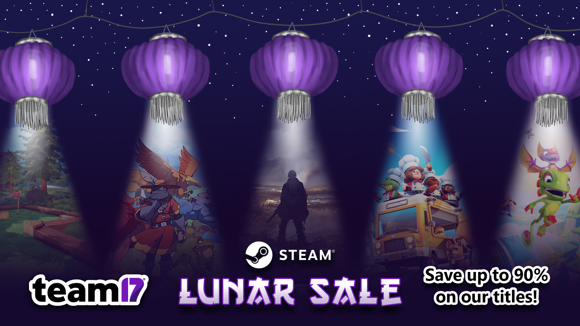 Save on Team17 titles in the Steam Lunar Sale!