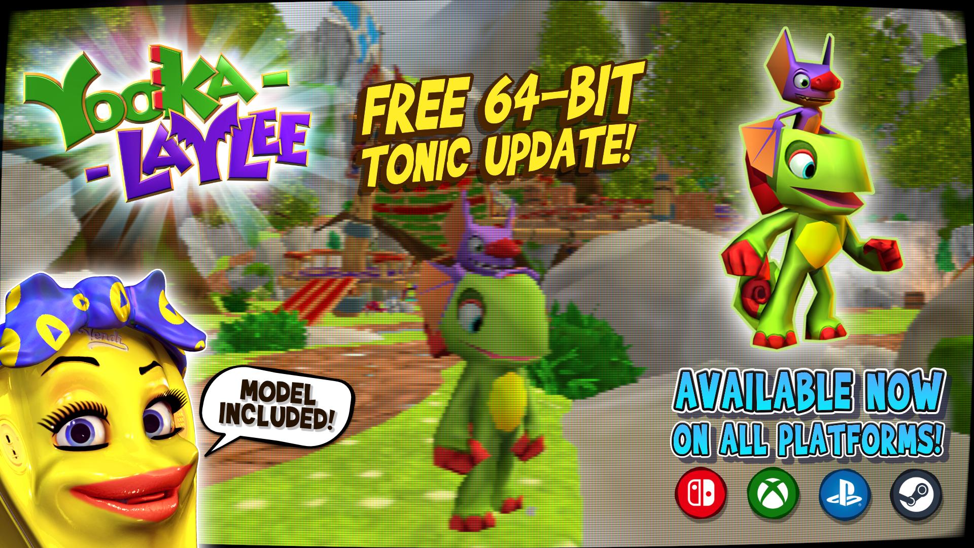 Yooka-Laylee FREE 64-Bit Tonic Update!